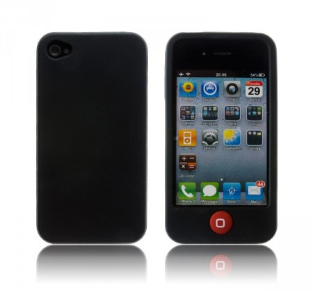 Deksel for iPhone 4 & 4S Silikon Etui Svart
