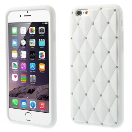 Deksel for iPhone 6 Diamant Hvit