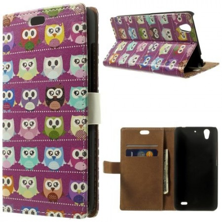 Etui for Huawei Ascend G630 Lommebok Ugle 2