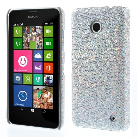 Deksel for Lumia 630 Glitter Sølv