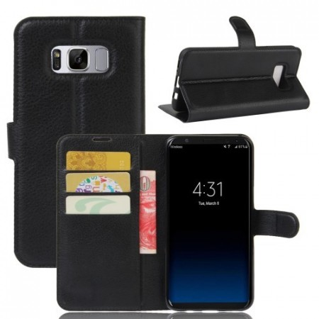Etui m/kortlommer for Galaxy S8 Lychee