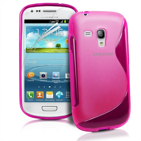 S-line Deksel for Samsung Galaxy S3 Mini Rosa