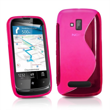 Deksel for Nokia Lumia 610 S-Line Rosa