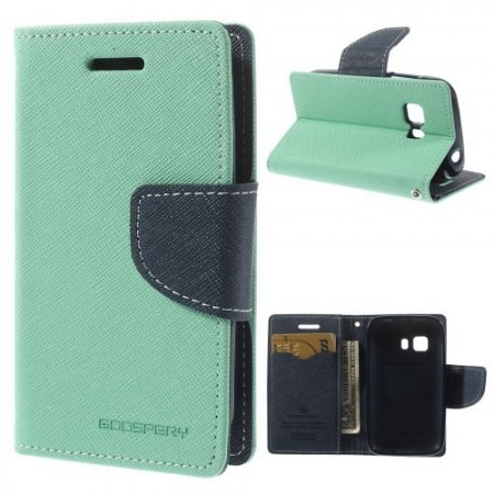 Etui m/kortlommer for Galaxy Young 2 Mercury Mint Grønn