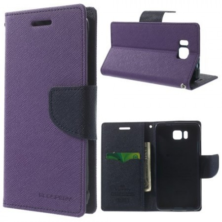 Etui m/kortlommer for Galaxy Alpha Mercury Lilla