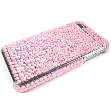 Deksel for Iphone 4/4S Bling Rosa