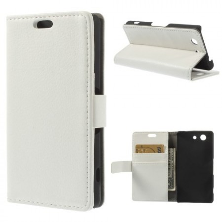 Lommebok Etui for Sony Xperia Z3 Compact Hvit