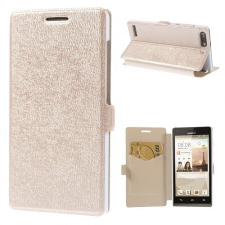 Slimbook Etui for Huawei Ascend G6 Champagne