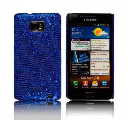 Glittercase for Samsung Galaxy S2 Blå