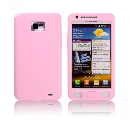 Silikon Etui for Galaxy S2 Lys Rosa