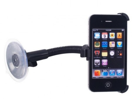 Bilholder med sving arm for iPhone 4/4S