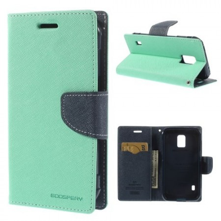 Etui m/kortlommer for Galaxy S5 Active Mercury Mint Grønn