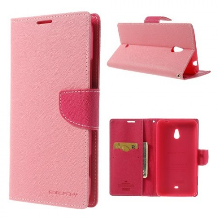 Lommebok Etui for Lumia 1320 Mercury Lys Rosa