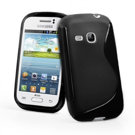 S-line Deksel for Galaxy Young (S6310) Svart
