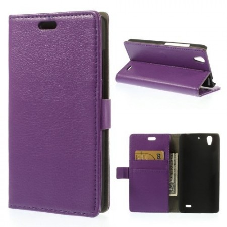 Etui for Huawei Ascend G630 Lommebok Classic Lilla
