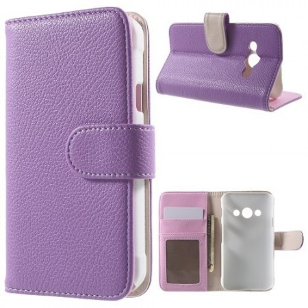 Etui m/kortlommer for Galaxy Xcover 3 Lychee Lilla