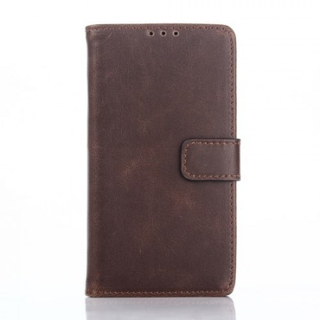Lommebok Etui for Sony Xperia Z5 Compact Classic Mørk Brun