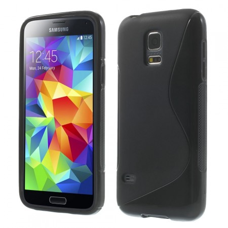 Deksel for Samsung Galaxy S5 Mini S-line Svart
