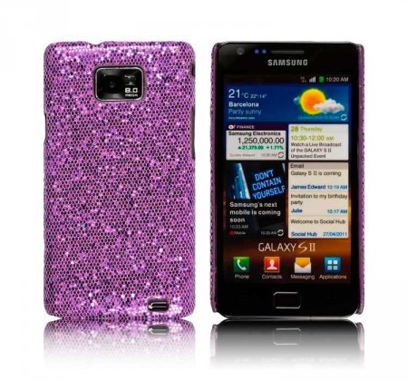 Glittercase for Samsung Galaxy S2 Lilla