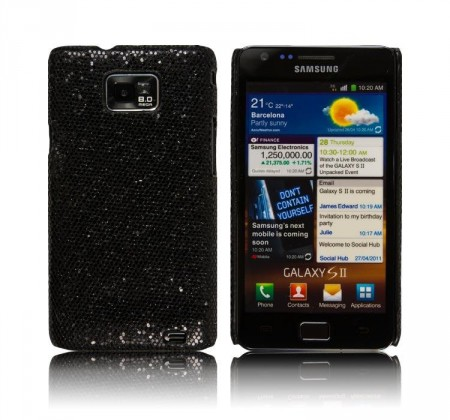 Glittercase for Samsung Galaxy S2 Svart
