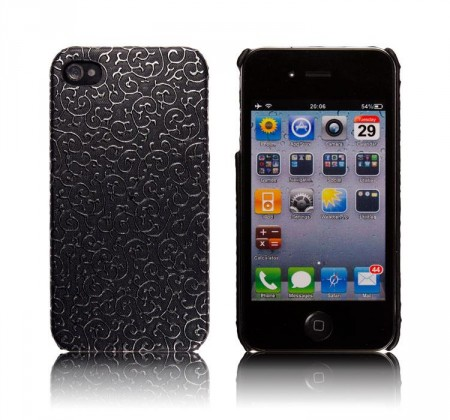 Deksel for Iphone 4/4S Brodering Svart