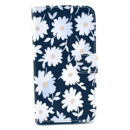 Etui for Samsung Galaxy S4 Lommebok Blomster 12