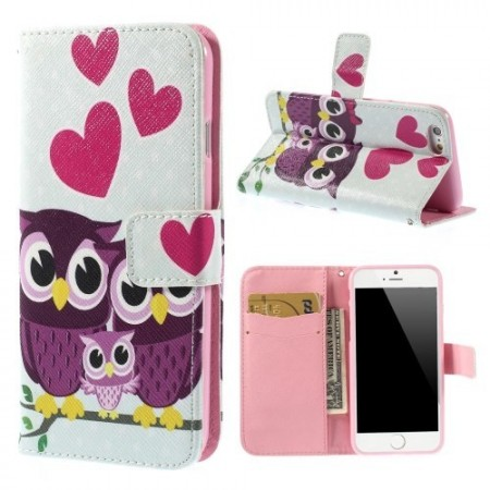 Etui m/kortlomme for iPhone 6 Ugle 7