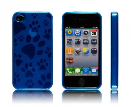 Gel Case for iPhone 4 Blå Pote