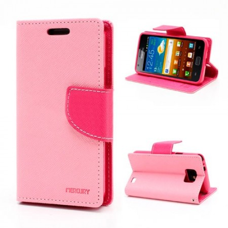 Lommebok for Samsung Galaxy S2 Mercury Lys Rosa