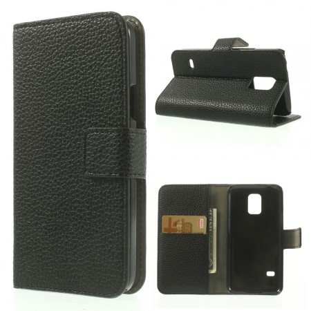 Lommebok Etui for Samsung Galaxy S5 Mini Classic Svart