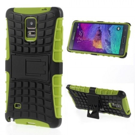 Deksel for Galaxy Note 4 Heavy-Duty Lime
