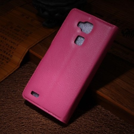 Etui for Huawei Ascend Mate7 Classic Lychee Rosa