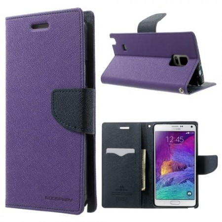 Etui for Galaxy Note 4 Mercury Lilla m/kortlommer