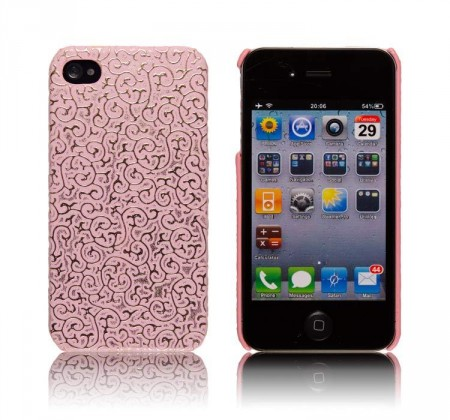 Deksel for iPhone 4/4S Brodering Rosa