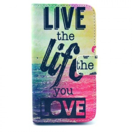 Etui for Samsung Galaxy S4 Lommebok Live Love