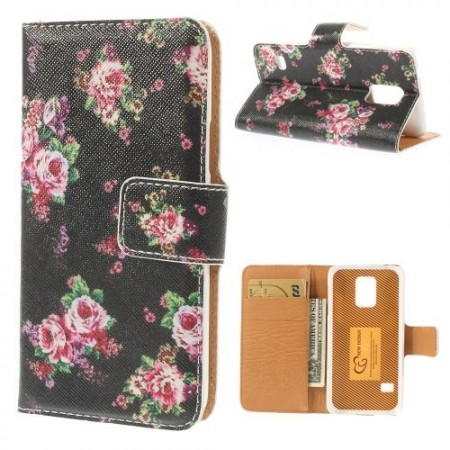 Etui for Galaxy S5 Mini m/kortlommer Roser 1