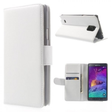 Etui for Galaxy Note 4 Smooth Hvit