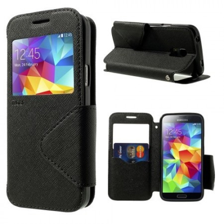 Etui for Galaxy S5 Mini Roar m/Skjermvindu Svart