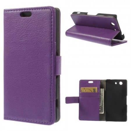Lommebok Etui for Sony Xperia Z3 Compact Lilla