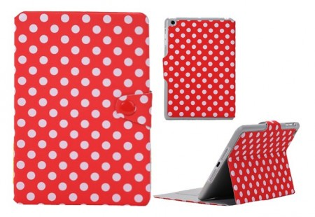 Mappe Etui for iPad Mini Polka Rød/Hvit