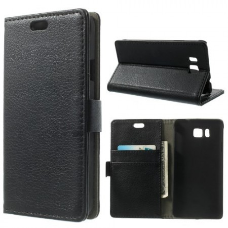 Etui for Galaxy Alpha Classic Svart m/kortlommer