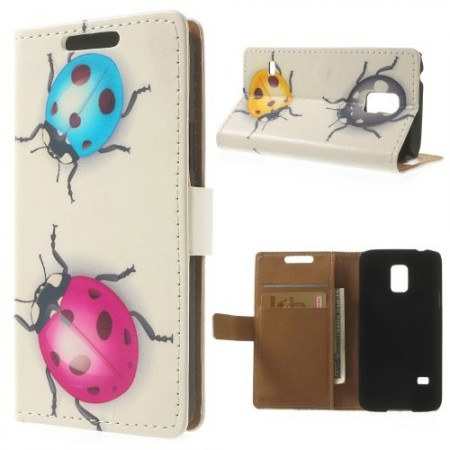 Etui for Galaxy S5 Mini m/kortlommer Marihøne