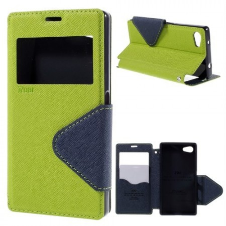 Slimbook Etui for Sony Xperia Z5 Compact Roar Lime Grønn