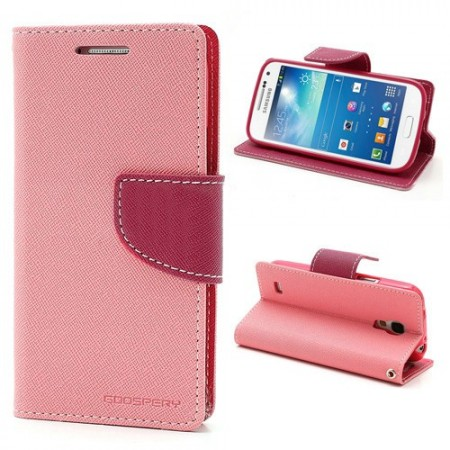 Lommebok for Samsung Galaxy S4 Mini Mercury Lys Rosa