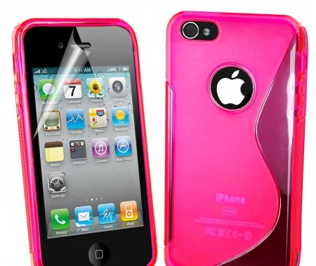 Deksel for iPhone 5 S-Line Rosa