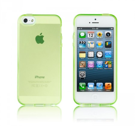 Deksel for iPhone 5 Transparent Lime