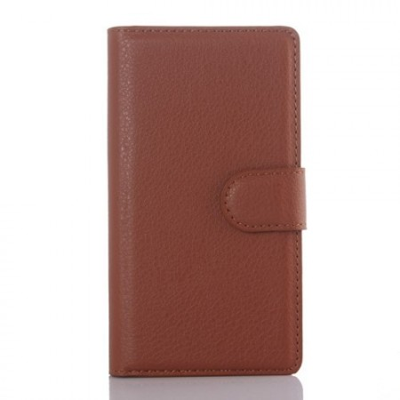 Lommebok Etui for Sony Xperia Z5 Compact Lychee Brun