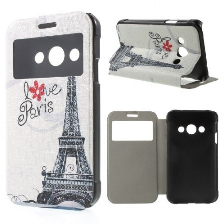Slimbook Etui m/skjermvindu for Galaxy Xcover 3 Love Paris