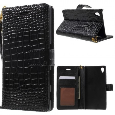 Lommebok Etui for Xperia Z5 Croco