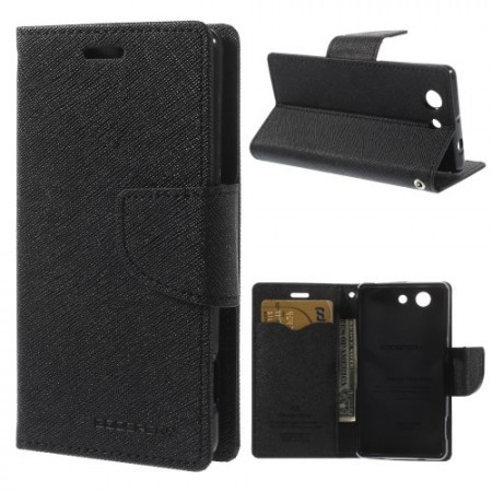 Lommebok Etui for Sony Xperia Z3 Compact  Mercury Svart